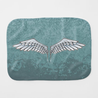 Blue-gray wings burp cloth
