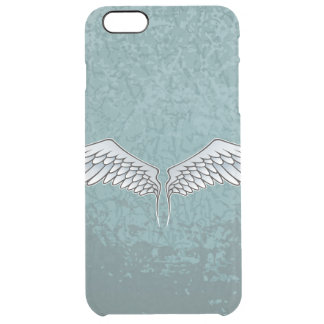 Blue-gray wings clear iPhone 6 plus case
