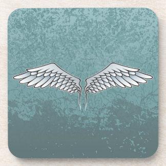 Blue-gray wings coaster