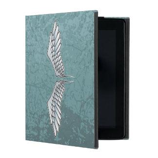 Blue-gray wings iPad case