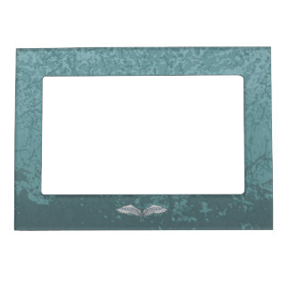 Blue-gray wings magnetic picture frame