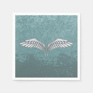 Blue-gray wings paper napkins
