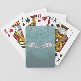 Blue-gray wings poker deck