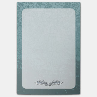 Blue-gray wings post-it® notes