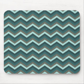 Blue Gray Zig Zag Design Mouse Pad