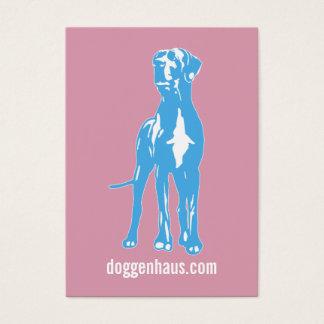 Blue Great Dane Business Card