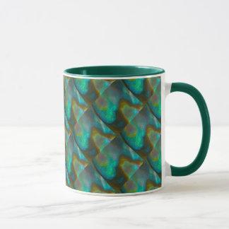 Blue Green Abalone Shell Mug