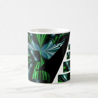 Blue Green abstract Coffee Mugs