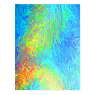 Blue Green Abstract Postcard