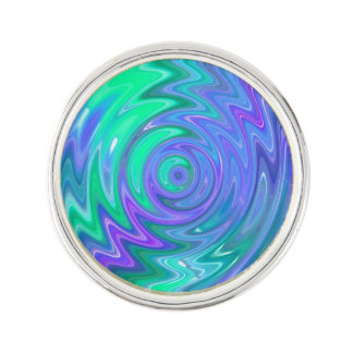 Blue Green Abstract Spin Lapel Pin