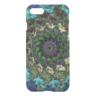 Blue Green Abstract Swirl iPhone 7 Case
