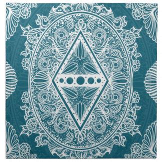 Blue Green Age of awakening, bohemian, newage Napkin