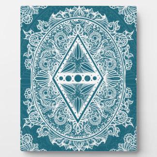 Blue Green Age of awakening, bohemian, newage Plaque