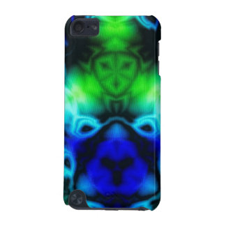 Blue Green and black kaleidoscope image iPod Touch 5G Case