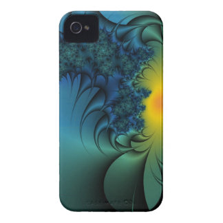 blue green and gold fractal iphone case iPhone 4 cover