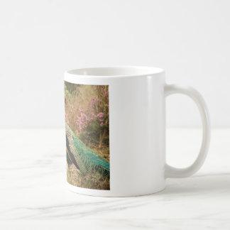 Blue Green and Orange Peacock Coffee Mug