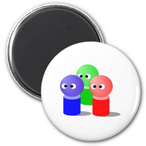 Blue Green and Red Icons Magnets