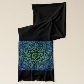 Blue Green Art Nouveau Design Scarf