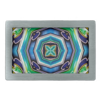 Blue Green Artistic Modern Abstract Belt Buckle