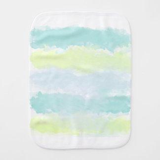 Blue Green Azur Watercolor Burp Cloth