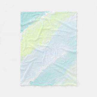 Blue Green Azur Watercolor Fleece Blanket