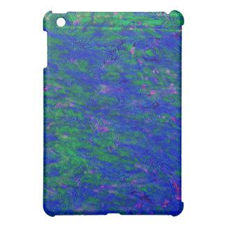 Blue & Green Batik Abstract iPad Case