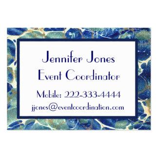 Blue & Green Batik Marble Business Card