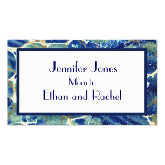Blue & Green Batik Marble Mommy Calling Card Pack Of Standard Business Cards