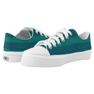 blue green beach shoes printed shoes
