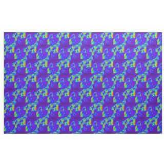 blue/green beach waves pattern fabric