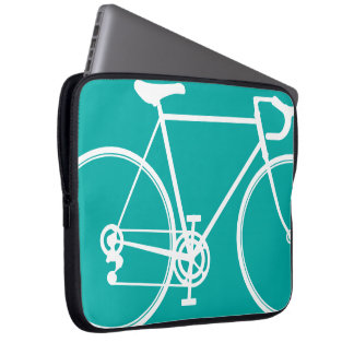 Blue/Green bike design Laptop Sleeve