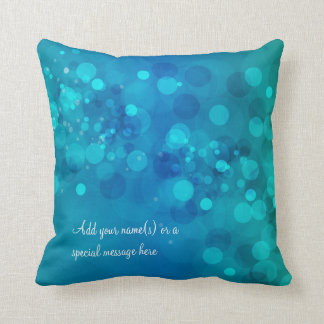 Blue Green Bokeh American MoJo Pillow