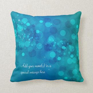Blue Green Bokeh American MoJo Pillow Throw Cushions