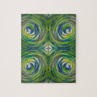 Blue Green Bulls Eye Puzzles