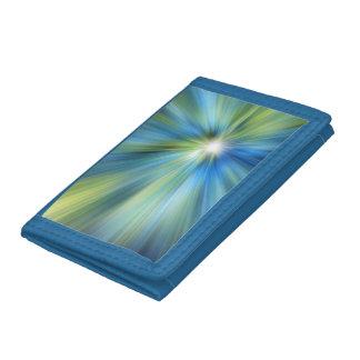 Blue-Green BURST TriFold Nylon Wallet