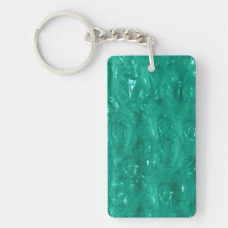 Blue green cellophane key ring