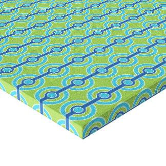 Blue / Green Circles custom canvas print