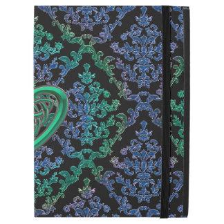 Blue Green Damask Celtic Heart Knot iPad Pro Case