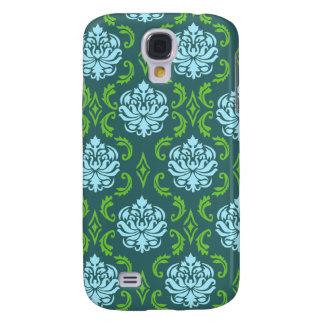 Blue Green Damask iphone 3 case