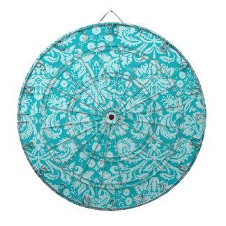 Blue-Green Damask Pattern Dart Boards