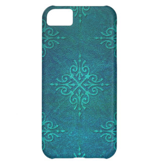 Blue Green Damask Pattern iPhone 5C Case