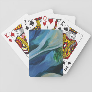 Blue, green Delta Abstract Painting  Playing Cards