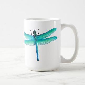 Blue Green Dragonfly Mug