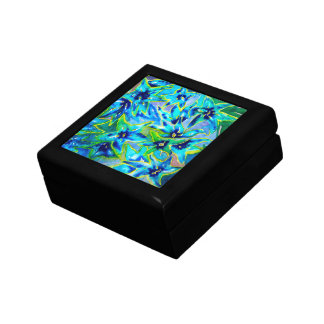 Blue Green Floral Watercolour Gift Box
