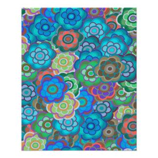 Blue-Green Flowers Thin Paper Bulk Buy