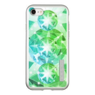 Blue Green Gemstone Compass Rhinestone Look Incipio DualPro Shine iPhone 8/7 Case
