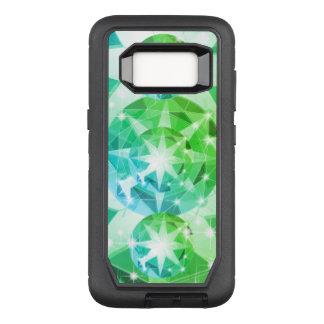 Blue Green Gemstone Compass Rhinestone Look OtterBox Defender Samsung Galaxy S8 Case