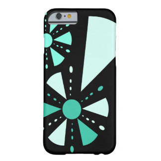 Blue green geometric flowers barely there iPhone 6 case