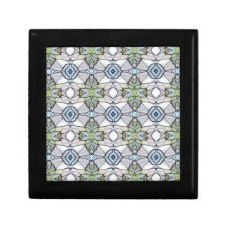 Blue Green Grey Modern Tribal Pattern Gift Box