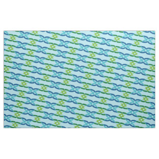 Blue Green Infinity Fabric